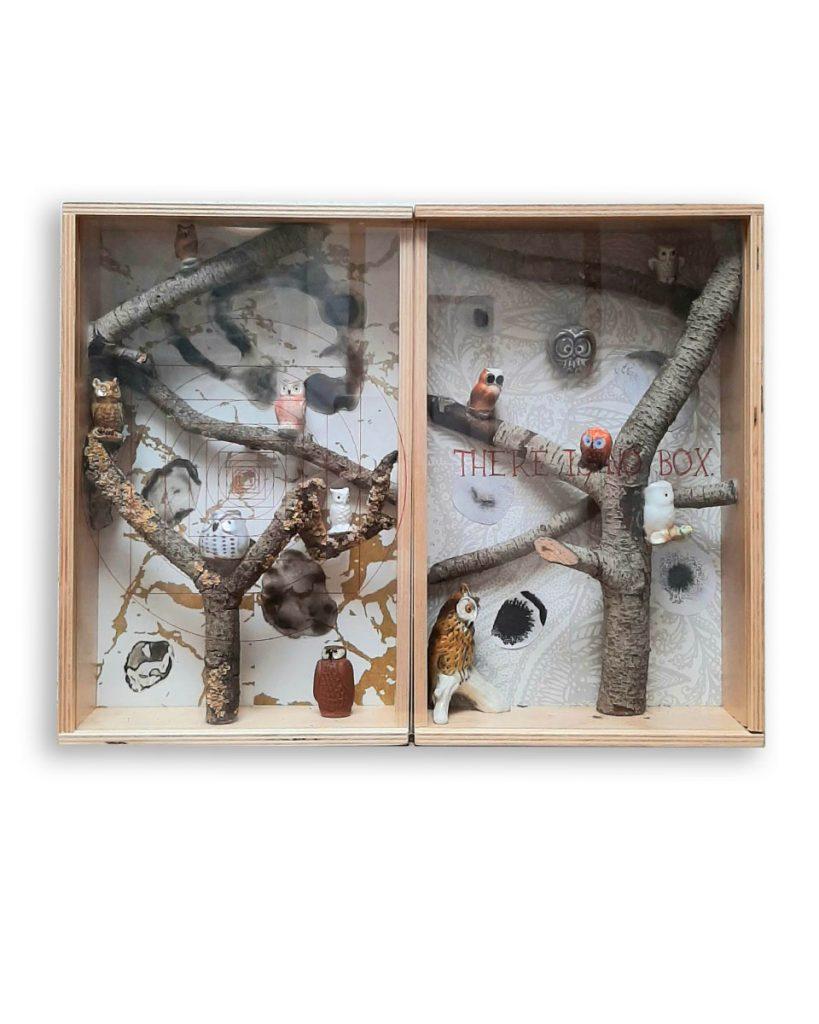 collage modern art jessica becks mixed media keramiek ceramics epoxy